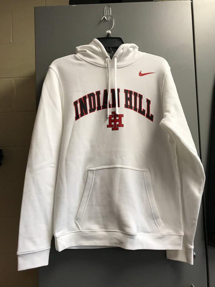 White Nike fleece hoody