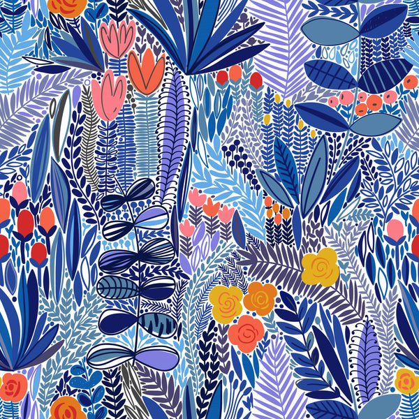 uniQstiQ Tropical Blue Field Wallpaper Wallpaper