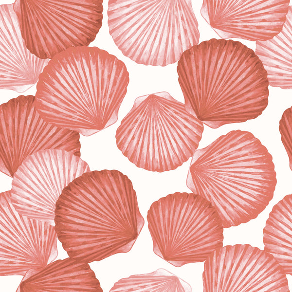 uniQstiQ Vintage Coral Seashells Wallpaper Wallpaper