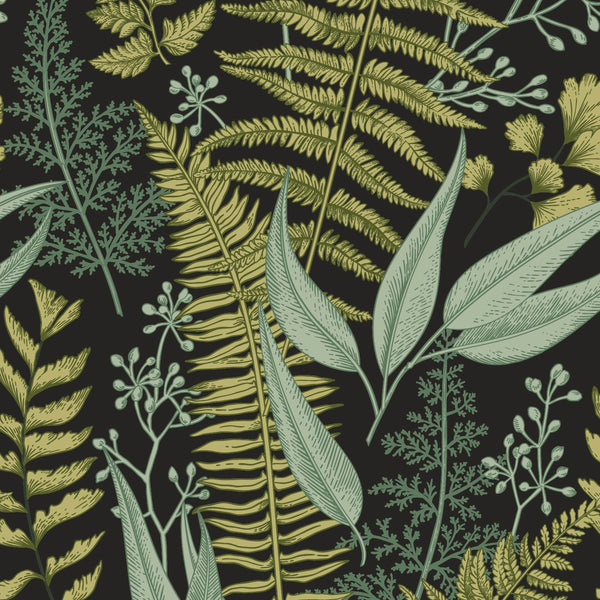 uniQstiQ Tropical Ferns Botanical Wallpaper Wallpaper Wallpaper