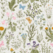 uniQstiQ Botanical Herbs and Wild Flowers Wallpaper Wallpaper