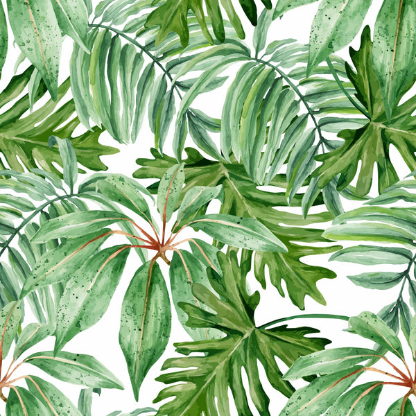 uniQstiQ Tropical Jungle Green Leaves Wallpaper Wallpaper