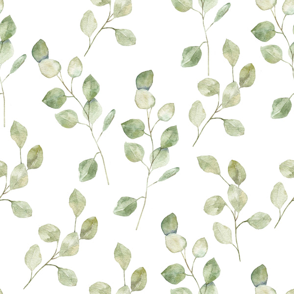 uniQstiQ Botanical Light Green Leaves Wallpaper Wallpaper