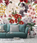 uniQstiQ Murals Retro Floral Mix Wallpaper Mural Wallpaper