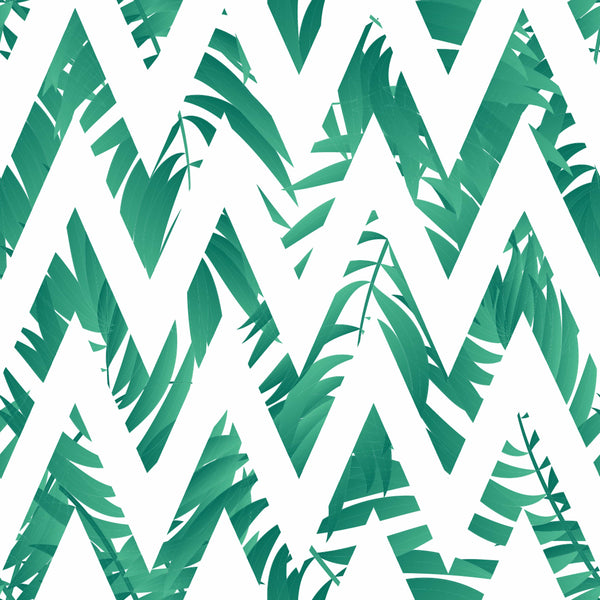 uniQstiQ Geometric Scandinavian Geometric Palm Leaves Wallpaper Wallpaper