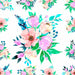 uniQstiQ Floral Watercolor Bouquet of Flowers Wallpaper Wallpaper