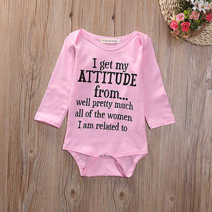 Get My Attitude From Romper Australia Baby Shop romper PBear Warehouse for Australia Baby Goods Online.