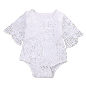 White Lacey Baby Romper Australia Baby Shop romper PBear Warehouse for Australia Baby Goods Online.