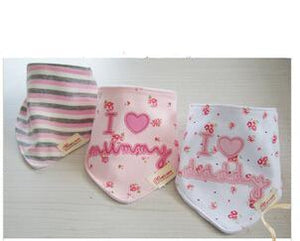 3PCS Pink Girls Bandana Bibs Australia Baby Shop Bibs PBear Warehouse for Australia Baby Goods Online.