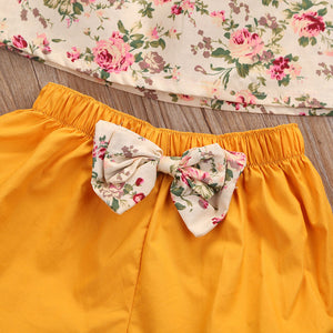 Floral Orange Puff Set Australia Baby Shop CLOTHING SET PBear Warehouse for Australia Baby Goods Online.