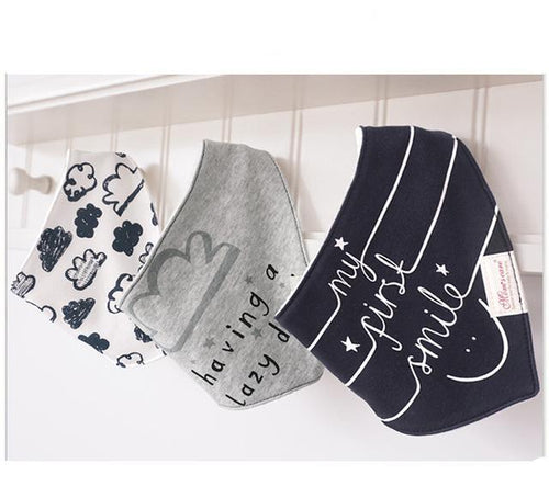 3PCS Happy Bandana Bibs Australia Baby Shop Bibs PBear Warehouse for Australia Baby Goods Online.