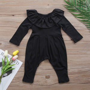 Black Ruffle Collar Jumpsuit Australia Baby Shop Jumpsuit PBear Warehouse for Australia Baby Goods Online.