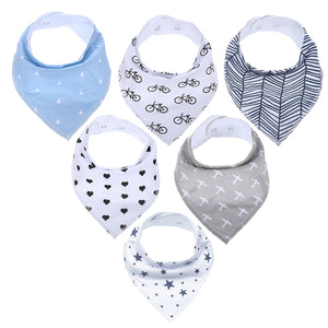 6PC Organic Cotton Bandana Bib Australia Baby Shop BIBS PBear Warehouse for Australia Baby Goods Online.