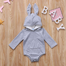 Grey Bunny Ears Hooded Romper Australia Baby Shop romper PBear Warehouse for Australia Baby Goods Online.