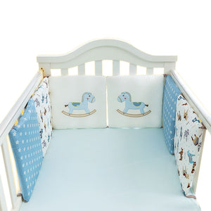 6PCS Blue Horsey Cot Bumper Set Australia Baby Shop cot bumper PBear Warehouse for Australia Baby Goods Online.