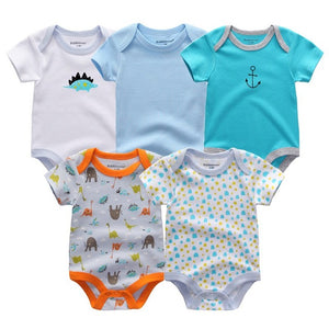 5PCS Short Sleeve Romper Set Australia Baby Shop romper PBear Warehouse for Australia Baby Goods Online.