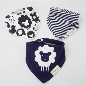 3PCS Navy Sheep Bandana Bibs Australia Baby Shop Bibs PBear Warehouse for Australia Baby Goods Online.