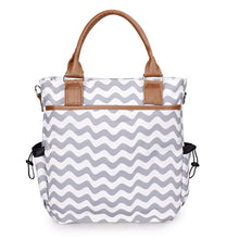 Grey Striped Tote Bag Australia Baby Shop Bag PBear Warehouse for Australia Baby Goods Online.
