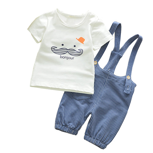 Bonjour T-shirt Overall Set | More Colours Available Australia Baby Shop CLOTHING SET PBear Warehouse for Australia Baby Goods Online.