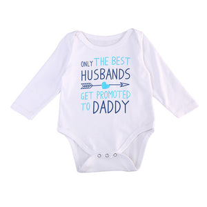Promoted To Daddy Romper Australia Baby Shop Romper PBear Warehouse for Australia Baby Goods Online.