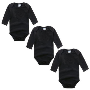 3PC Black Long Sleeve Romper Set Australia Baby Shop Romper PBear Warehouse for Australia Baby Goods Online.
