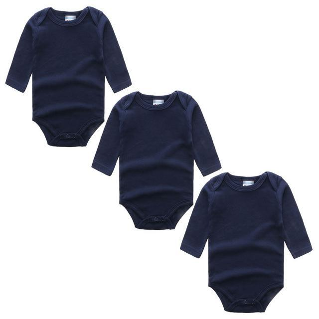 3PC Navy Long Sleeve Romper Set Australia Baby Shop Romper PBear Warehouse for Australia Baby Goods Online.