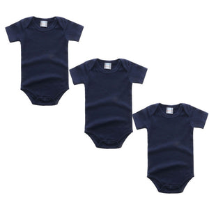3PC Navy Short Sleeve Romper Set Australia Baby Shop Romper PBear Warehouse for Australia Baby Goods Online.