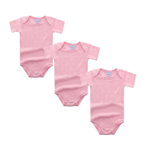3PC Baby Pink Short Sleeve Romper Set Australia Baby Shop Romper PBear Warehouse for Australia Baby Goods Online.