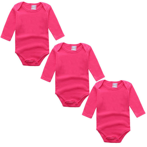 3PC Hot Pink Long Sleeve Romper Set Australia Baby Shop Romper PBear Warehouse for Australia Baby Goods Online.