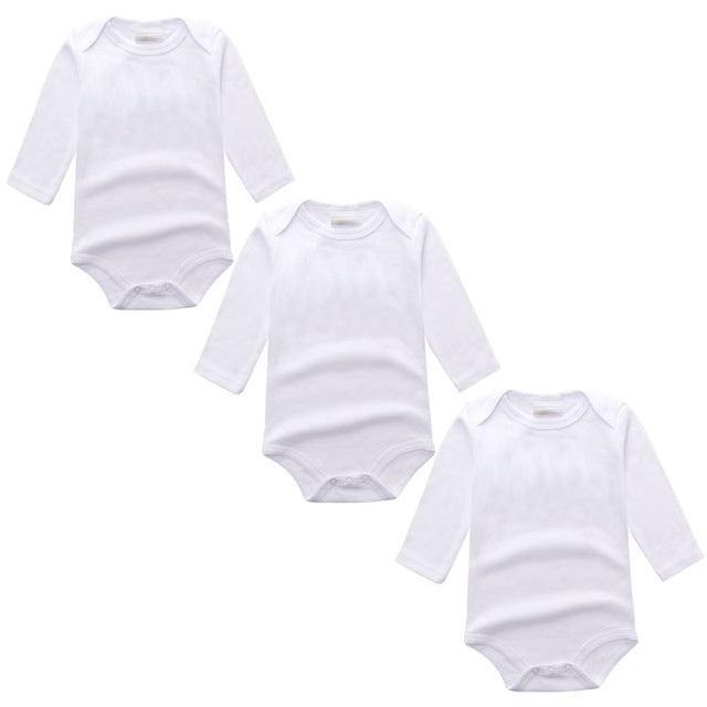 3PC White Long Sleeve Romper Set Australia Baby Shop Romper PBear Warehouse for Australia Baby Goods Online.