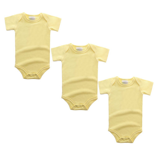 3PC Yellow Short Sleeve Romper Set Australia Baby Shop Romper PBear Warehouse for Australia Baby Goods Online.