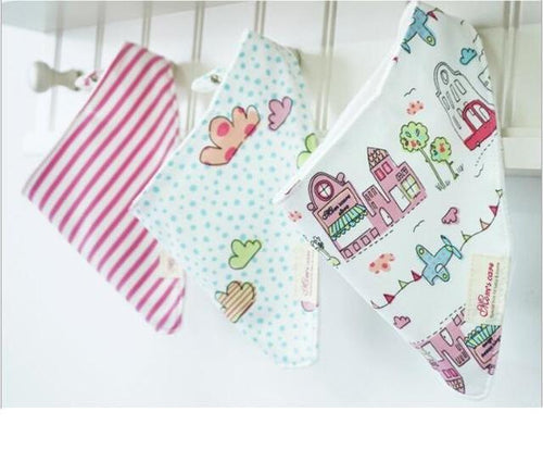 3PCS Pink House Bandana Bibs Australia Baby Shop Bibs PBear Warehouse for Australia Baby Goods Online.