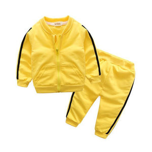 Yellow Runner Tracksuit Set Australia Baby Shop CLOTHING SET PBear Warehouse for Australia Baby Goods Online.