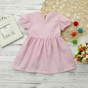Pink Stripe Bow Dress