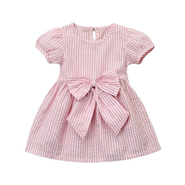 Pink Stripe Bow Dress Australia Baby Shop Dress PBear Warehouse for Australia Baby Goods Online.