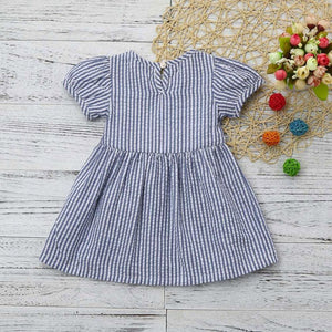 Blue Stripe Bow Dress Australia Baby Shop Dress PBear Warehouse for Australia Baby Goods Online.
