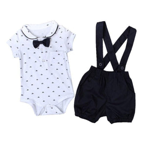 Collar Romper and Navy Overalls Set Australia Baby Shop CLOTHING SET PBear Warehouse for Australia Baby Goods Online.