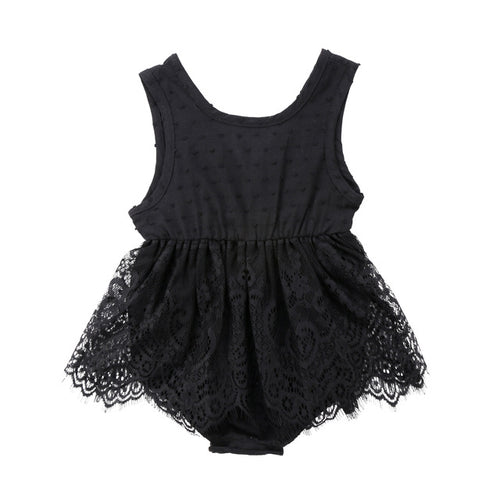 Black Lacey Gal Dress Romper