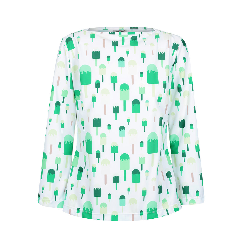 Ice-cream Tank -  Green multi - UPF50+, Sun protective clothing, Idlebird