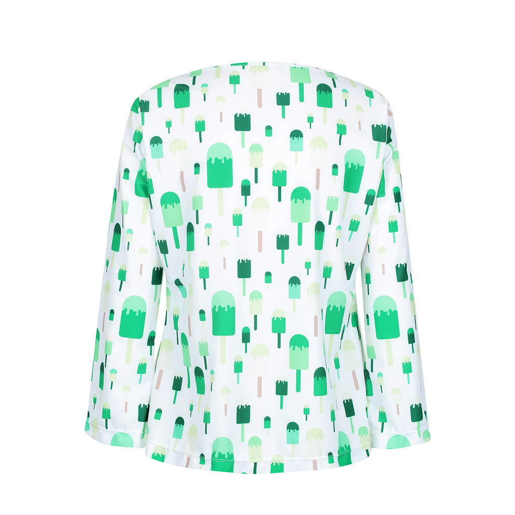 Ice-cream Tank -  Green multi - UPF50+