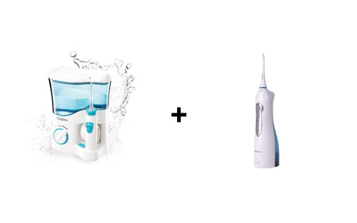 BUNDLE DISCOUNT: Mouth Wash Expert Aquapick Oral Irrigator AQ-300 + Chargeable Mouth Wash Expert Aquapick Oral Irrigator AQ-210 - Evercare Innovation