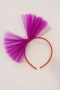 PURPLE TULLE HEADBAND