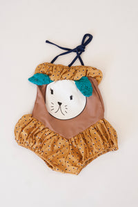 TAN DOGGY SWIMSUIT