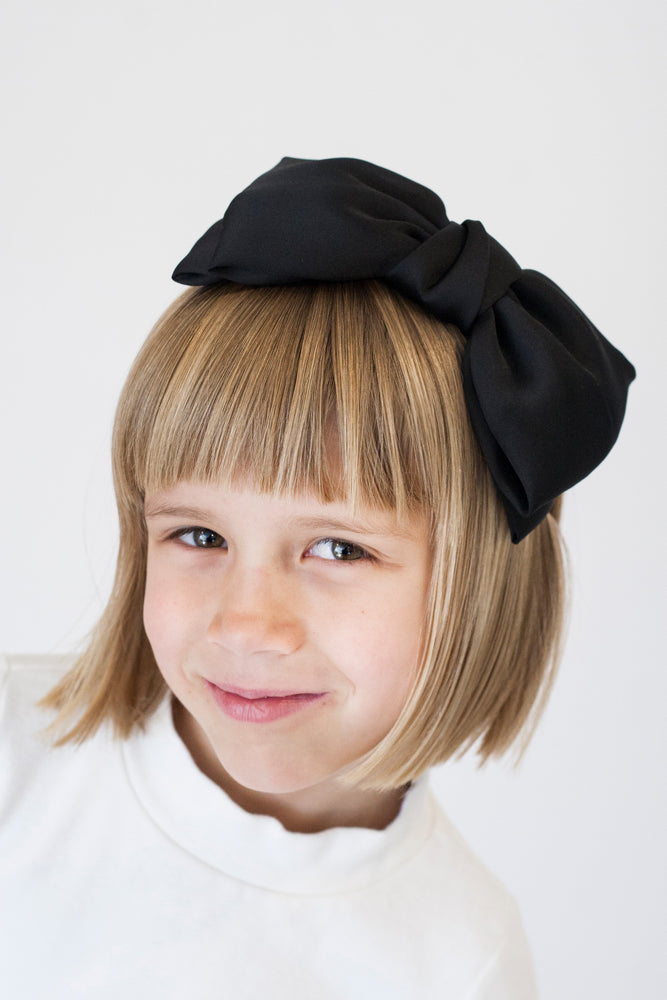 BLACK BOW HEADBAND