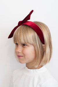 RED VELVET BOW HEADBAND