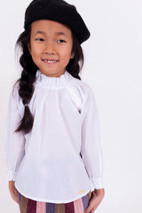 GATHERED BUTTON BLOUSE
