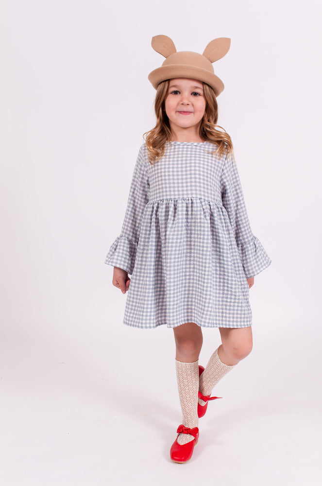 LIGHT BLUE GINGHAM DRESS