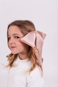 PINK TAUPE BOW CLIP