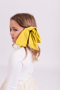 YELLOW BOW CLIP