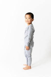 SOLID HEATHER GREY PAJAMAS